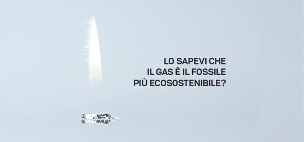 Il gas rispetta l'ambiente.